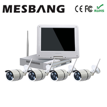 Hot cheap build in 1TB HDD 960P  10 inch monitor 4 channel  Security Camera System Wireless Wifi free shipping  by DHL Fedex