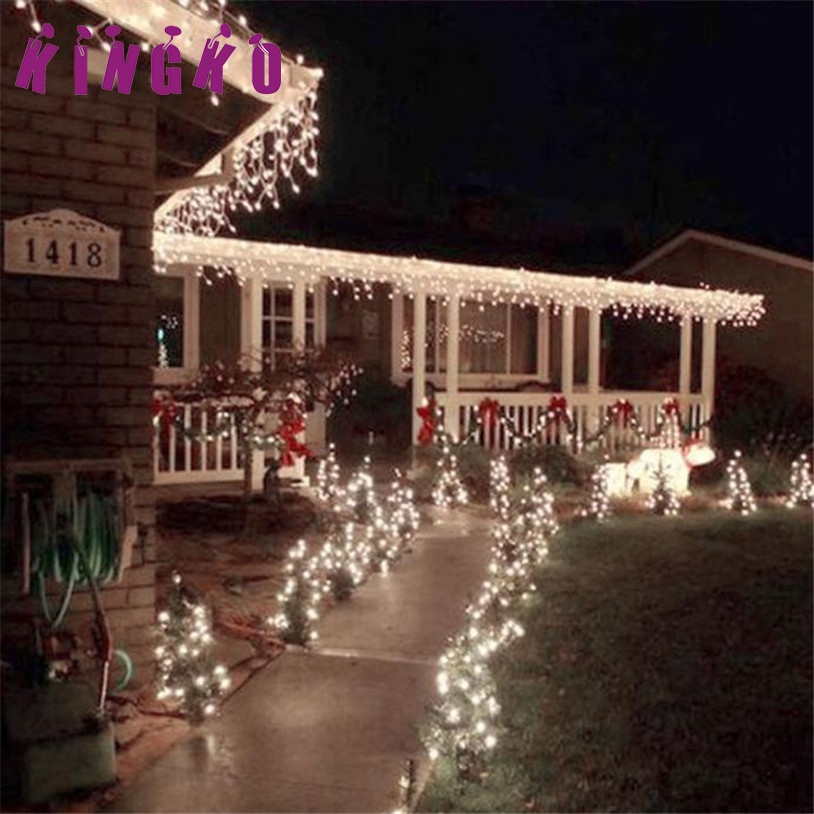 Kingko 00 LED Outdoor Solar Powered String Light Christmas Party Lamp 22M Lighting String Festival Christmas Decoration e61201