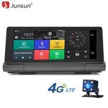 Junsun E28 Nuevo 4G de Navegación GPS Del Coche del Androide 5.0 Bluetooth ROM 16 GB de RAM 1 GB Full HD 1080 P Coche DVR de Doble Lente de La Cámara Navigator