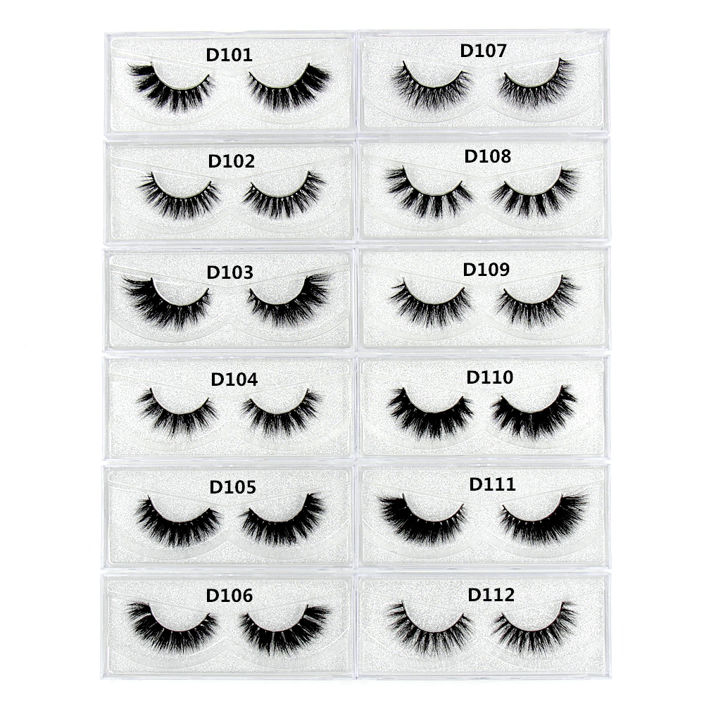 d6a95402084 100 Pairs Eyelashes 3D Mink False Eyelashes Vegan and Cruelty free Makeup Thick  Full Strip Lashes Winged Cross Messy Nature Long