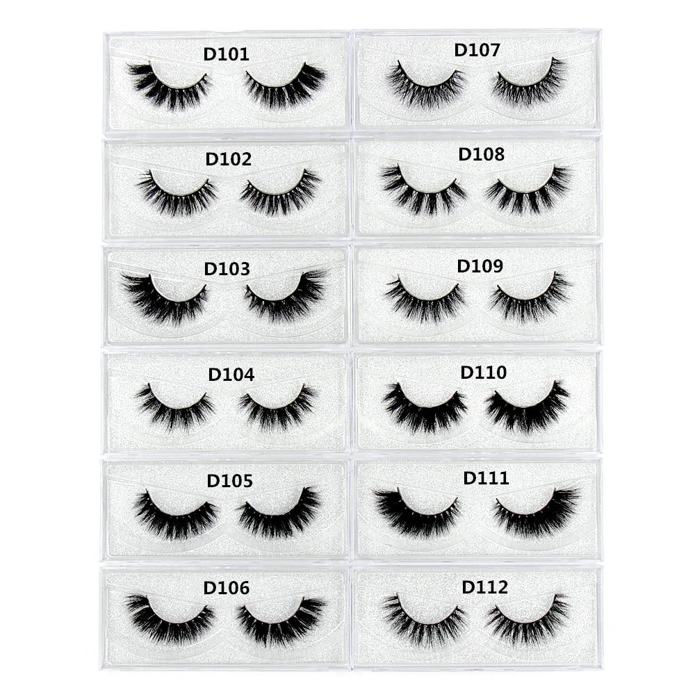 100 Pairs Eyelashes 3D Mink False Eyelashes Vegan and Cruelty free Makeup Thick Full Strip Lashes Winged Cross Messy Nature Long in False Eyelashes from Beauty Health