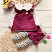 Children 's clothing new spring and autumn baby vest 2017 vest + collar T – shirt + trousers baby girl clothes