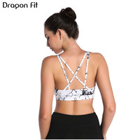 Dragon Fit Womens Fitness Bras Push Up Sports Bra Top Gym Running Padded Yoga Bras Female