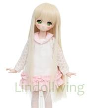 Dollfie – perruque Dollfie Dollfie longue Blonde, 7-8 pouces, 1/4 BJD, dl DD SD LUT, 1001
