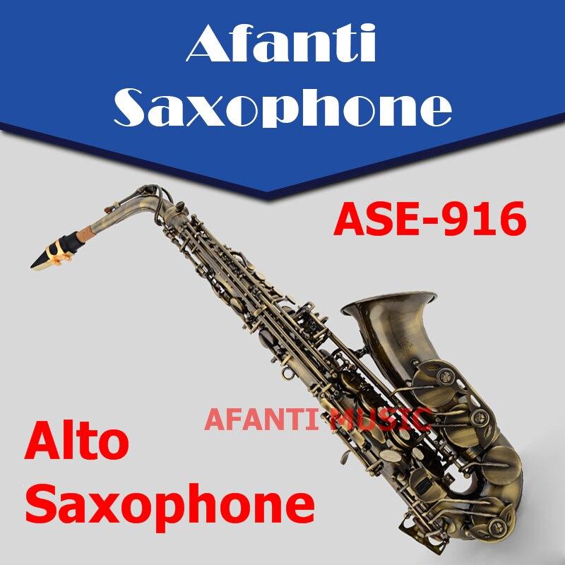 Afanti Music Eb tone / Phosphor Bronze Copper / Glod finish Alto Saxophone (ASE-916)