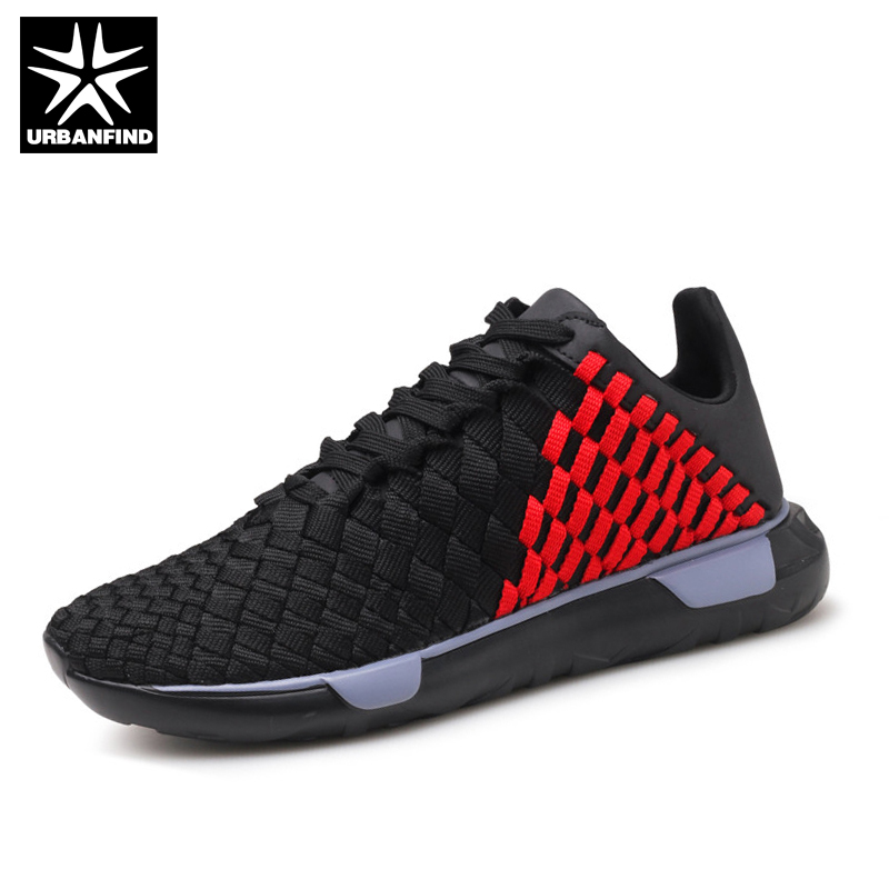 URBANFIND Fashion Sneakers Men Casual Shoes Male Spring Summer Footwear Size 39-44 Checkered Design Boy Leisure Lace-up Shoes urbanfind men lace up casual shoes black white blue eu size 39 44 brand fashion men leather footwear for spring autumn