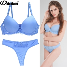 Fashion lace underwear bra set plus size push up sexy ultra-thin thin transparent temptation