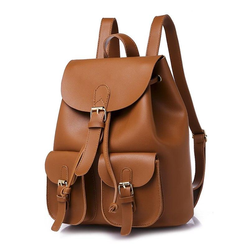 Femmes Sac à Dos en cuir Sac à Dos féminin Sac A Dos sacs d'école pour adolescente filles pendentif femmes voyage grande capacité mode