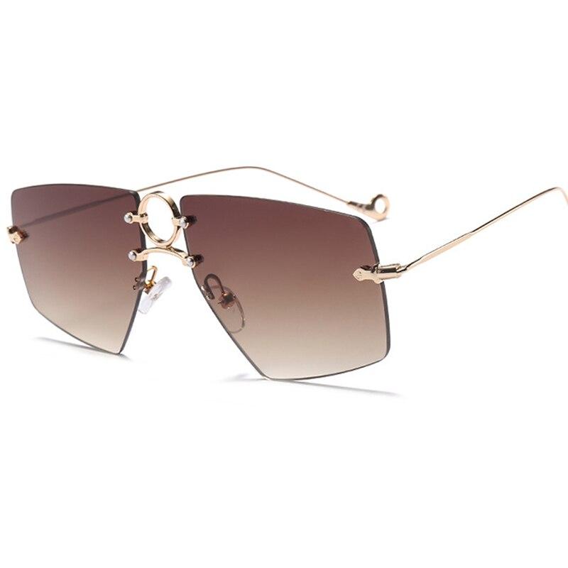 Belmon Fashion Rimless Sunglasses Women Men Brand Sun Glasses For Ladies Shades Oculos de sol UV400 Female Male Sunglass RS685 in Women 39 s Sunglasses from Apparel Accessories