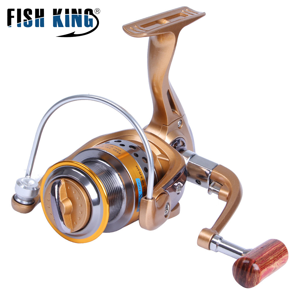 FISH KING TH-X Spinning Reel 8+1BBs 8KG Max Drag Power High Speed 5.1:1 Freshwater Spinning Fishing Reel For Bass Pike Fishing