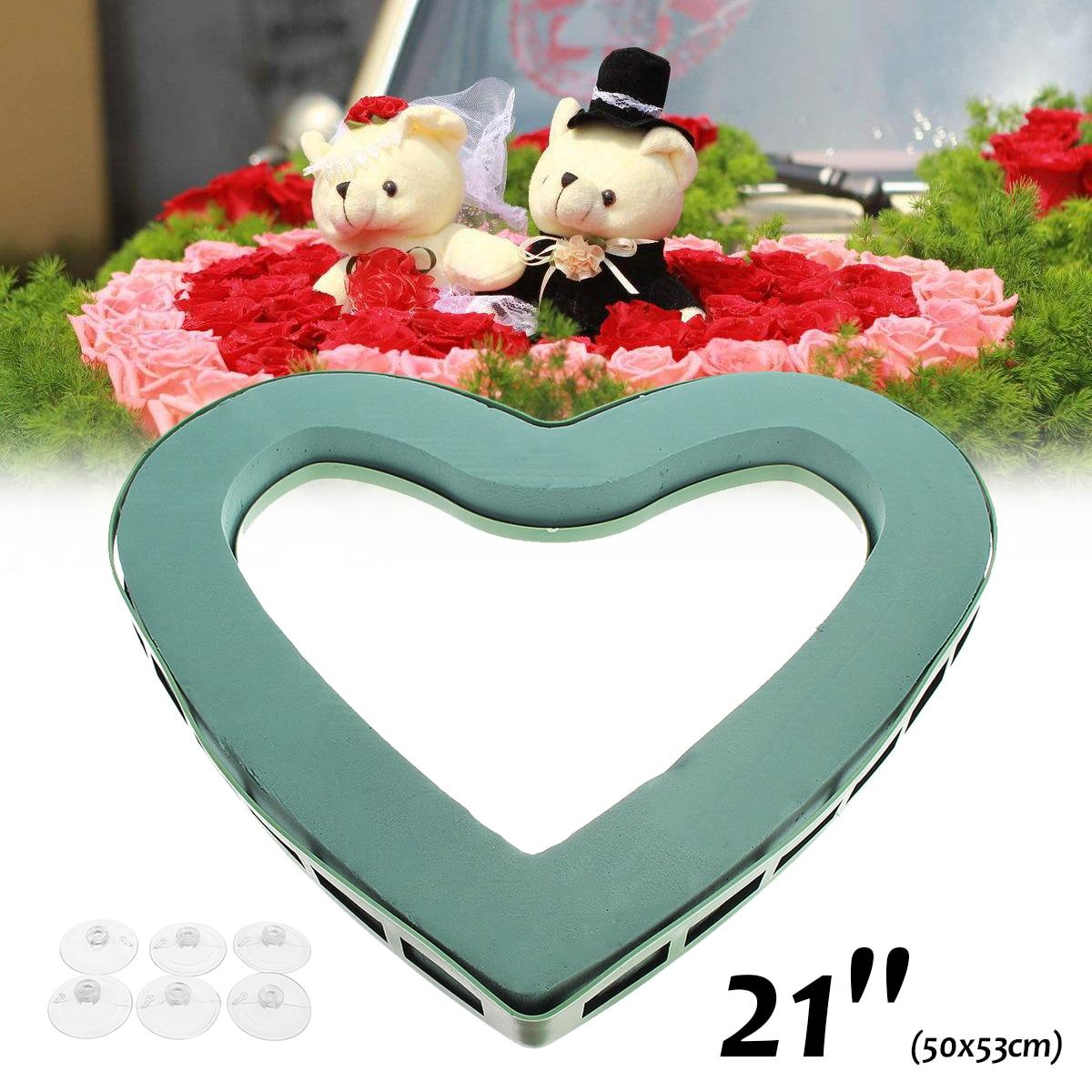 Wedding Car Party DIY Decoration Flower Foam Heart Shape Craft ...