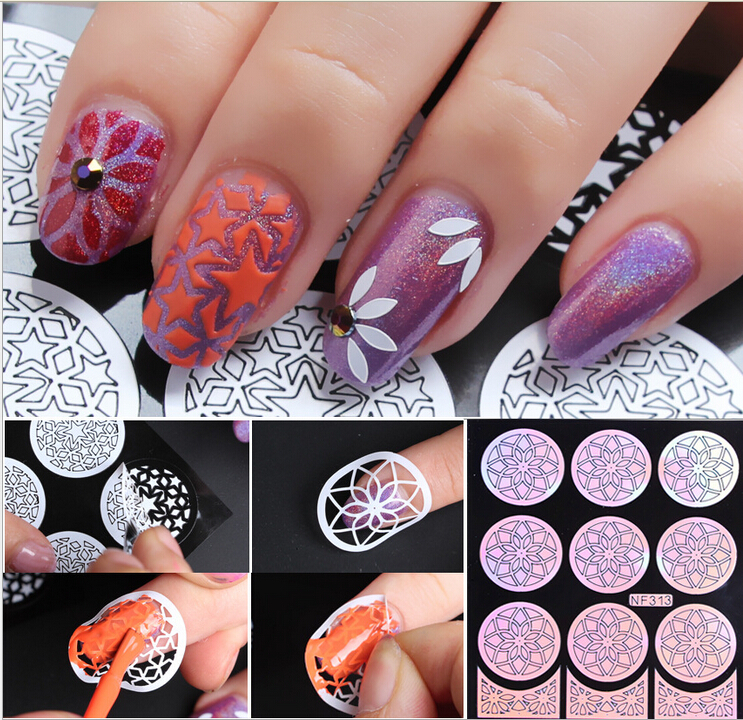 Aliexpress.com : Buy 3 style Multiple Use Nail Art Vinyls Stamping ...
