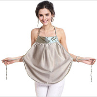 YeBmin 1 Color Women Silk Breastfeeding Pajamas Smooth And Soft G003