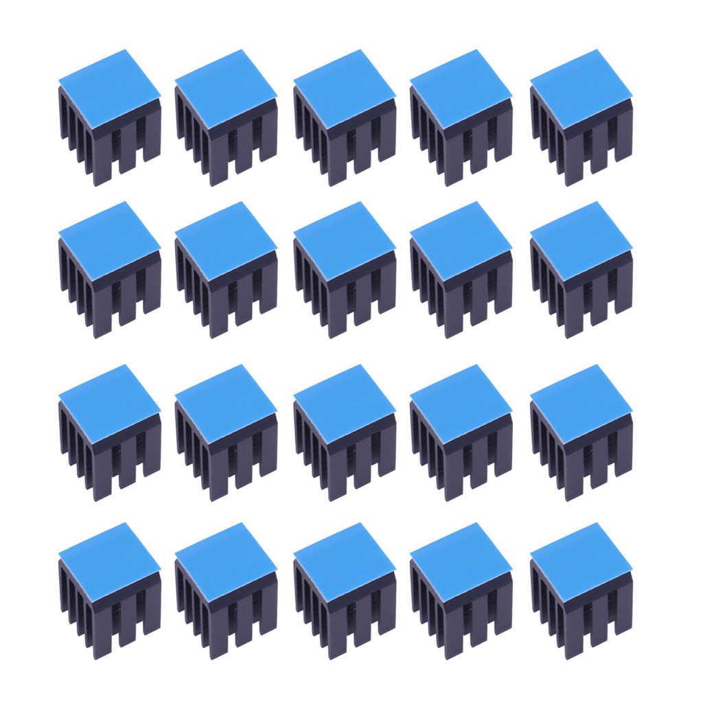 20xStepper мотор драйвер радиаторы охлаждающий блок радиаторы для TMC2100 черный
