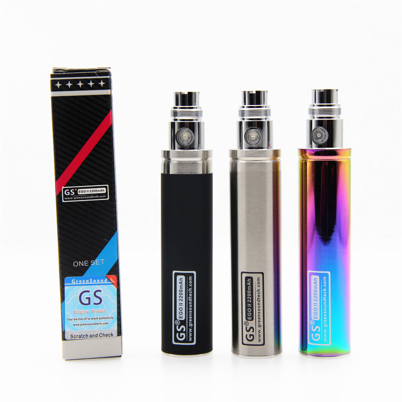 GreenSound New Capacity 2200mah EGO 1 Week Battery For Ego II Electronic Cigarette Ego/510 Thread Battery (1 EGO 1 Week II )