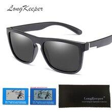LongKeeper Flexible HD Polarized Sunglasses Women Square Outdoor Driving Sun glasses Men Brand Designer UV400 Goggles Gafas