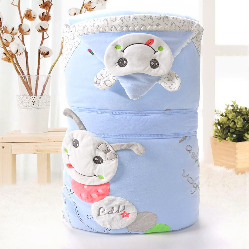 Осеннее/зимнее одеяло для новорожденных, детское одеяло со съемной подкладкой