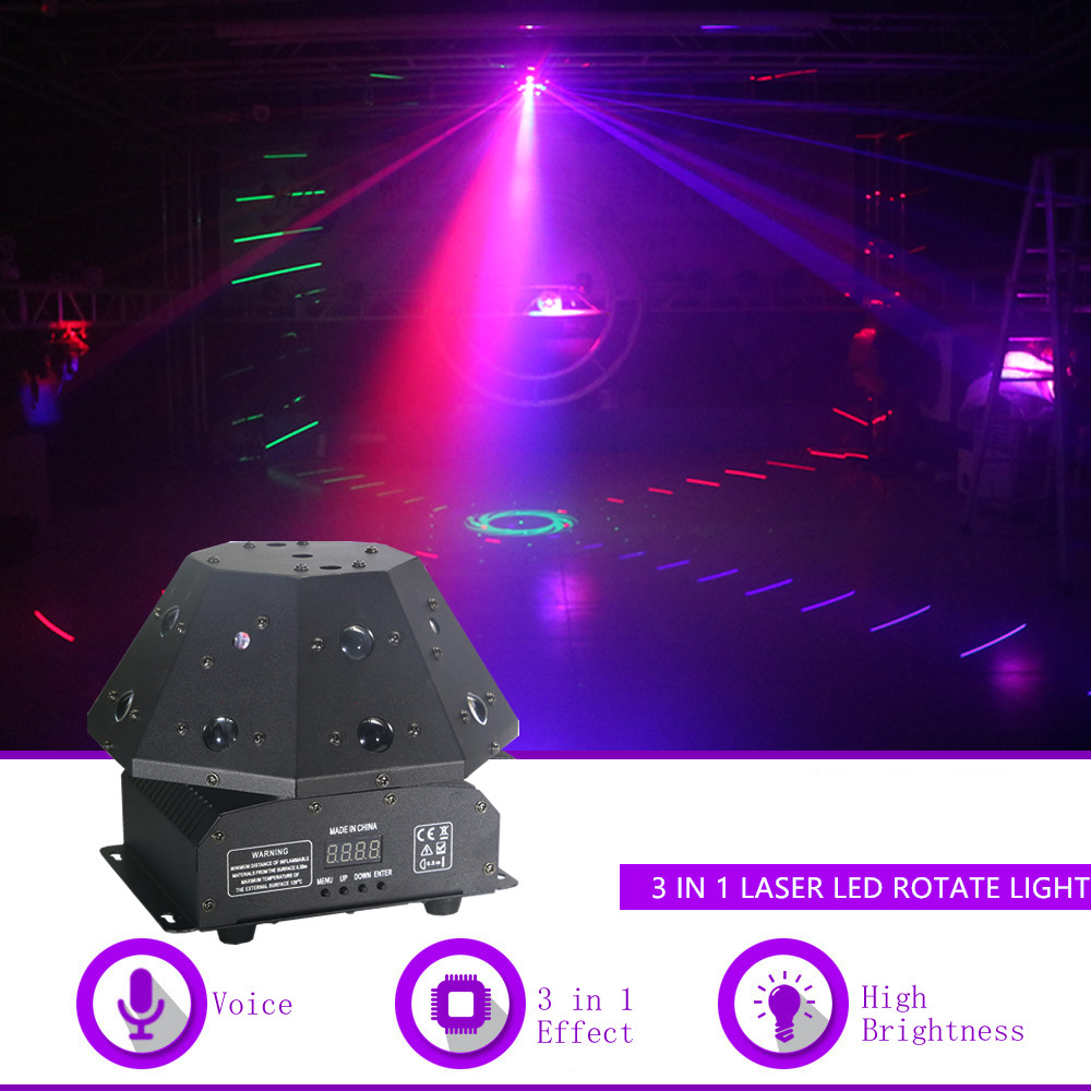 Sharelife 24 RGB Laser Gobos + RGB Led Beam+ White Strobe Led Move Light DMX Bar Party Disco Show DJ Rotate Stage Lighting Q19