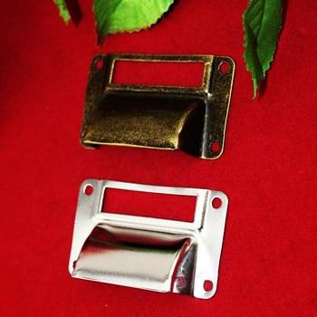 Bulk Vintage Kitchen Drawer Cabinet Door Handle Furniture Knobs Cupboard Shell Label Pull Handles,Card Holder,66*39mm,100Pcs