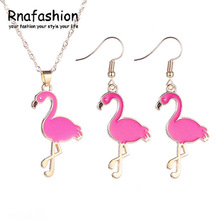 Fashion Cute Animal Pendant Necklace Earring Jewelry Sets Charm Jewellery For Women Girls Baby Kids Gold Color For Party Trendy