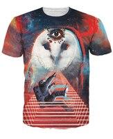 Galactic Eule T-Shirt Eule Abducting Ein Astronaut Auf Einen Raum Mission 3d Drucken T-shirt Fashion Kleidung Frauen Männer t-shirts R2856