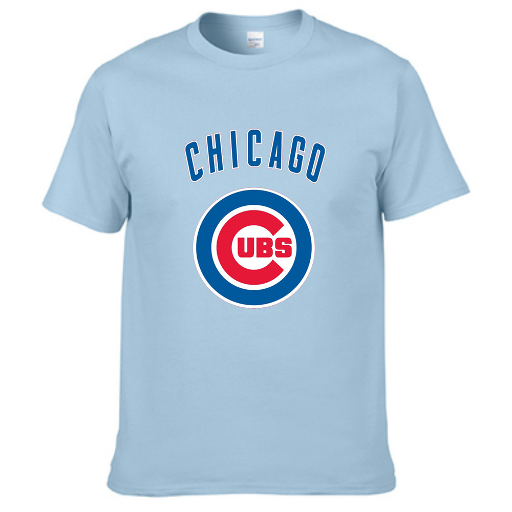 Design your own t shirt chicago - T Shirts Mens Chicago Cubs Logo Design T Shirt Mens Fashion 2016 O Neck