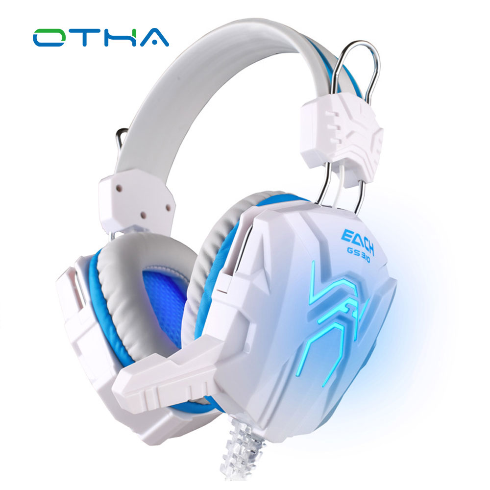Hot Selling EACH GS310 Gaming Headset Surround Stereo Headband Headphone Children Gift with Mic USB LED Light for Game PC Laptop hot 3 5mm led illuminated headband style gaming headset headphone with mic for pc wholesale