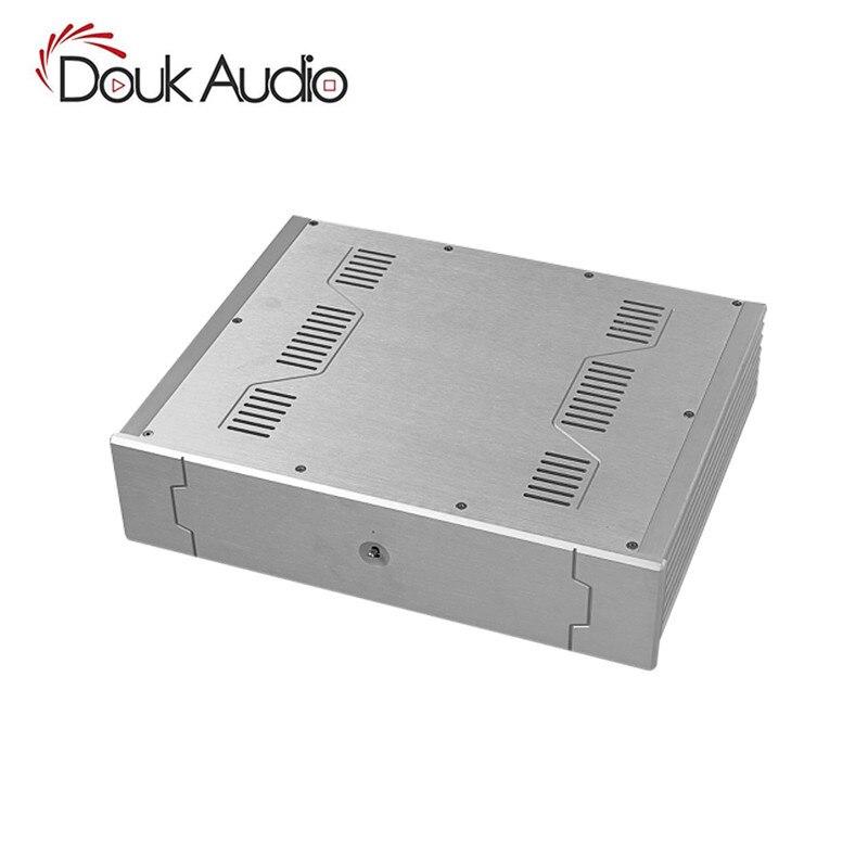 Châssis d'amplificateur en aluminium Nobsound/boîtier de fusion/boîtier de préampli/boîtier d'armoire en argent