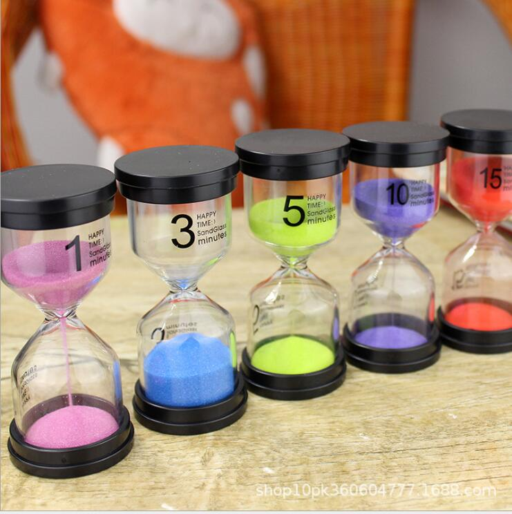 <font><b>1</b></font> 3 5 <font><b>10</b></font> 15 20 <font><b>25</b></font> 30 45 60minute UNBreak Hourglasses Timer Gift Decoration A112 image