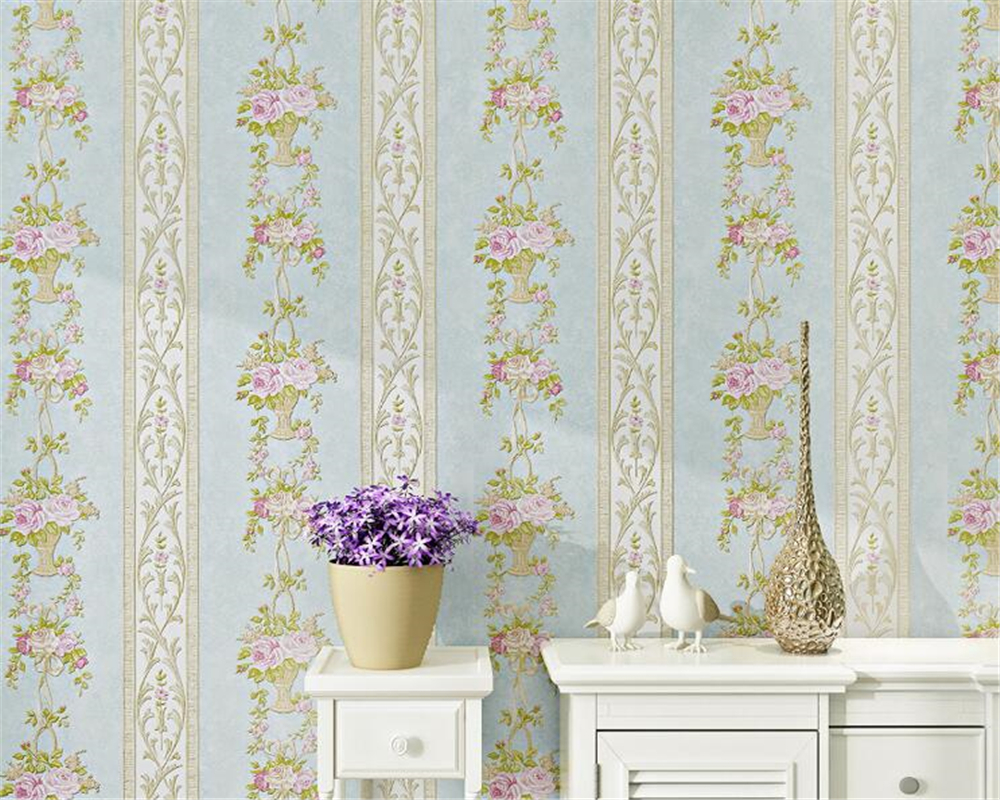 Beibehang européen 3D bande stéréo chaud pastorale non tissé 3d papier peint chambre salon plein de TV fond papier peint