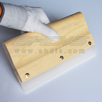 2pcs Professional Wood Handle Rubber Squeegee Scraper Blade Screen Printing 2A76