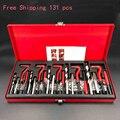 DHL envío gratis 131 piezas Helicoil coche del bloque del motor dañado reparación hilo kit conjunto de herramienta de M5 M6 M8 M10 M12