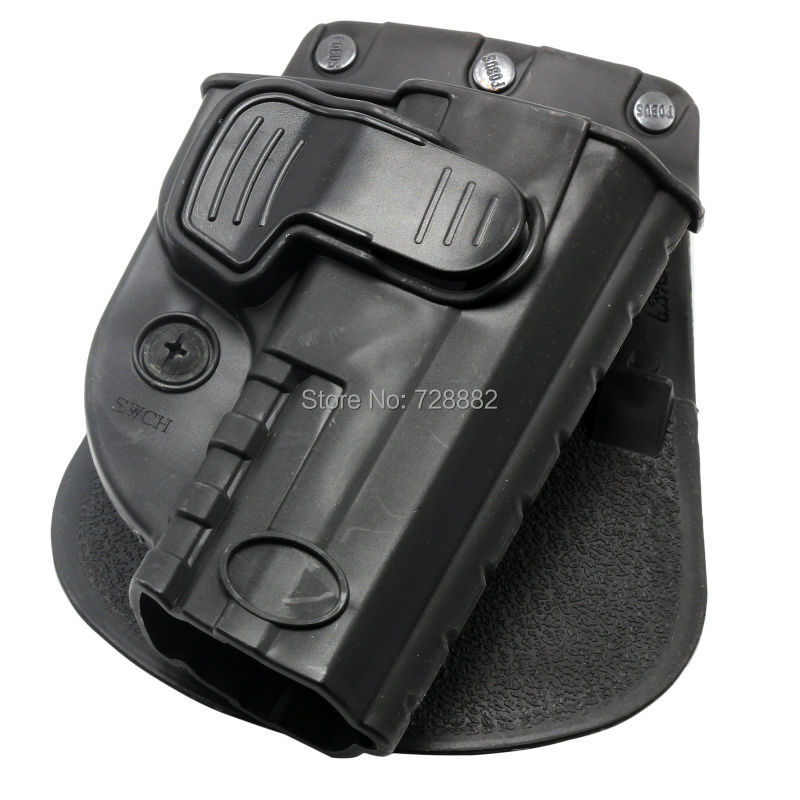 Tactical Holster Right Hand Belt Loop Paddle SWCH Rapid Release