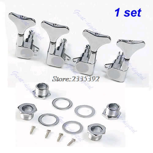 New Chrome Guitar Sealed Tuners Tuning Pegs Machine Heads 2R2L For 4 String Bass syds 6pcs sealed guitar string tuning pegs tuners machine heads 6r