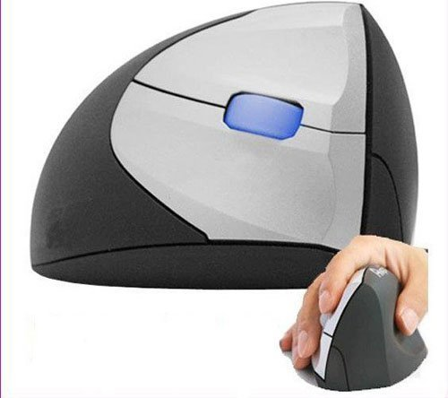 Free shipping+Guaranteed 100% + Wholesale and retail+Ergonomic Vertical Minicute EZmouse 2.4GHz Wireless Mouse for Right Hand On