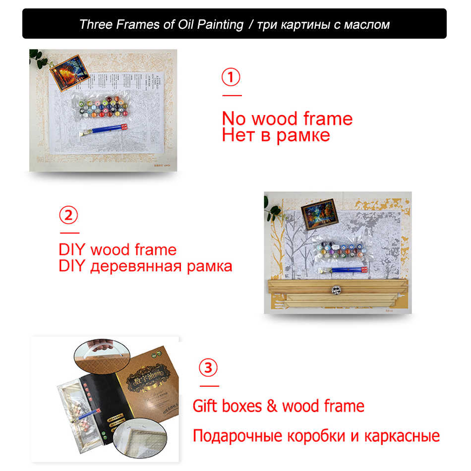 WEEN DIY Painting By Numbers Drawing Painting By Numbers Kits Paint On Canvas For Home Wall Art Picture 40x50cm-Beauty and lion