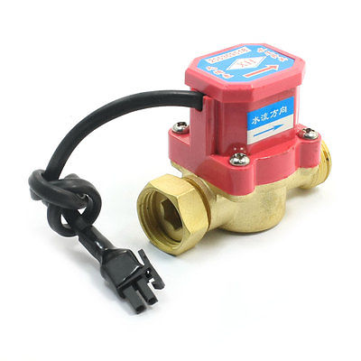 0.75-5L/Min 120W 1/2PT Thread Brass Water Heater Flow Rate Sensor Counter0.75-5L/Min 120W 1/2PT Thread Brass Water Heater Flow Rate Sensor Counter