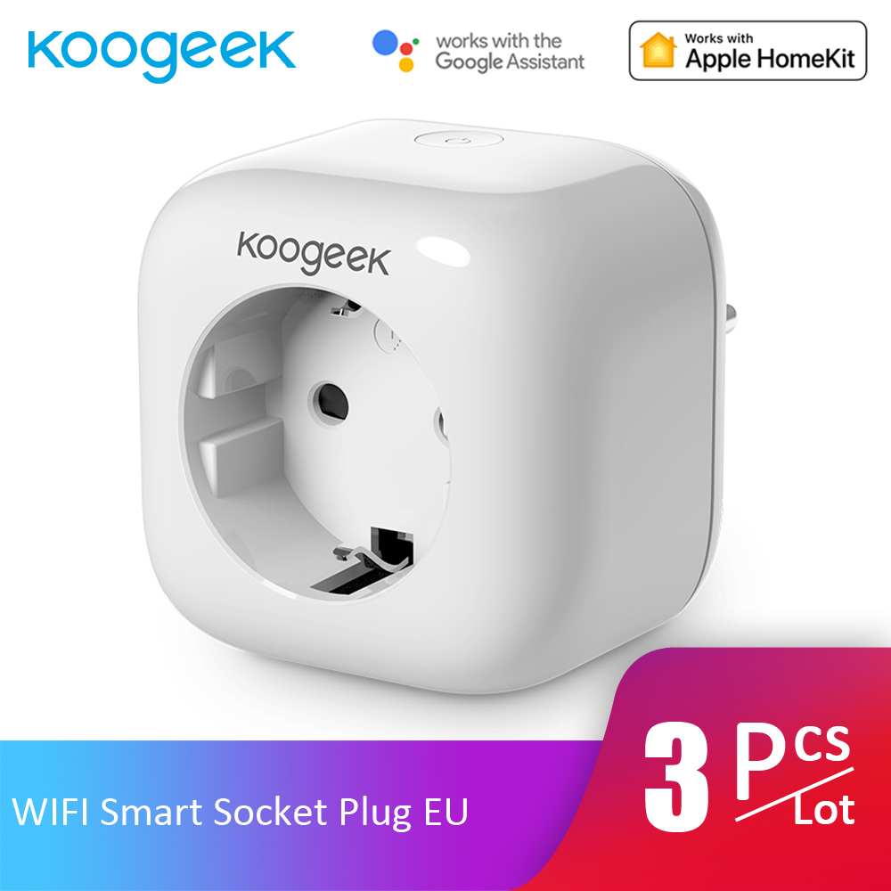 3pcs Lot Koogeek WIFI Smart Socket Plug APP Control Monitor Energy Consumption Home Smart Outlet for