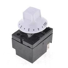 WZA-SJ(6202) Черный Белый 250 V 10A поворотный Регулируемый переключатель термостата