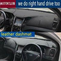 For Hyundai Sonata I45 2009 2010 2011 2012 2013 2014 Leather Dashmat Dashboard Cover Car Dash Mat SunShade Carpet accessories