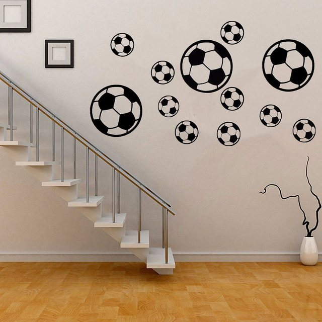 Football Patterned Wall Sticker