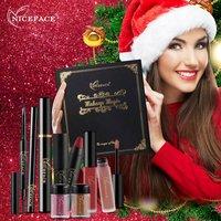 NICEFACE New Women Makeup Set Lip Makeup Lip Gloss Lipstick Eye Makeup Eyeshadow Mascara Eyeliner Eyebrow