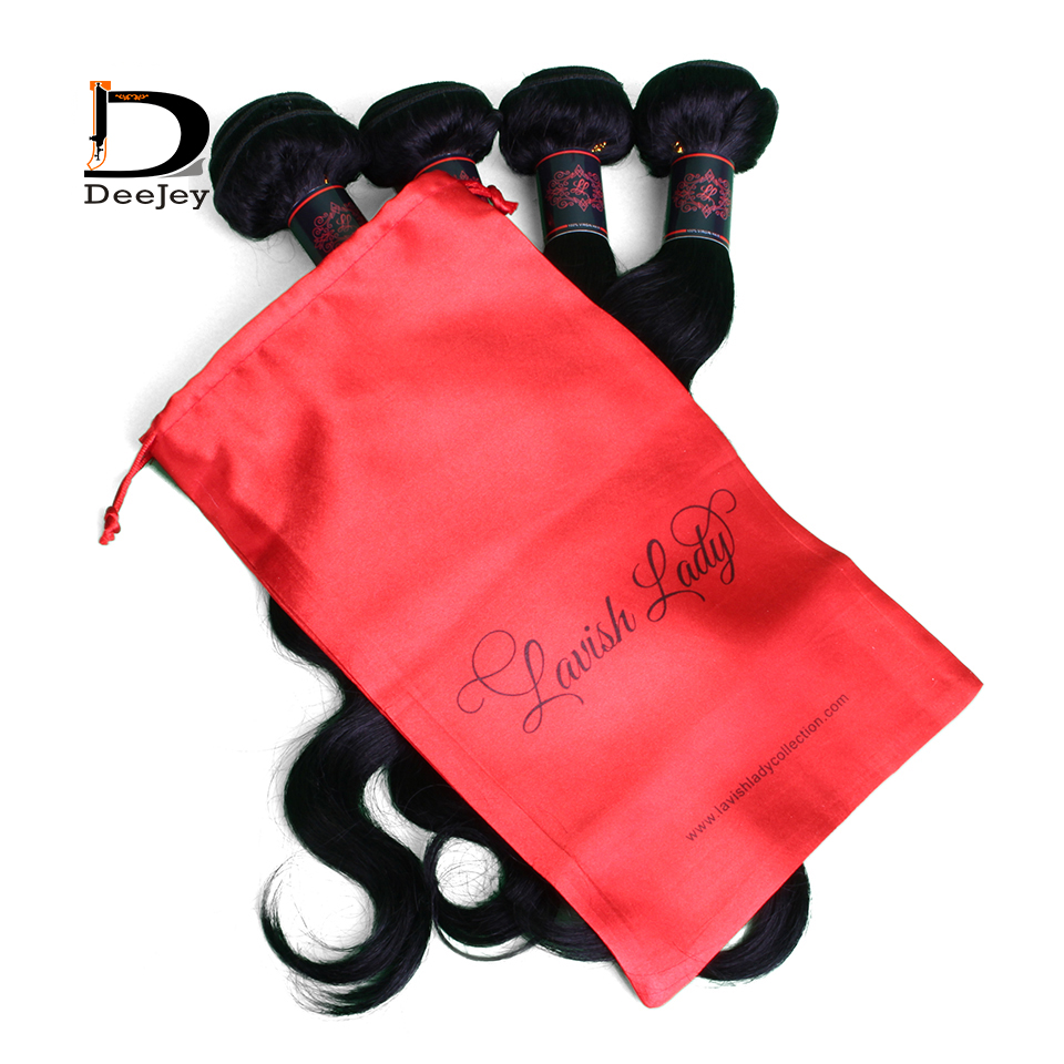 Custom printed polyester satin silk bags drawstring hair packaging bags virgin hair packaging bags 100pcs lot