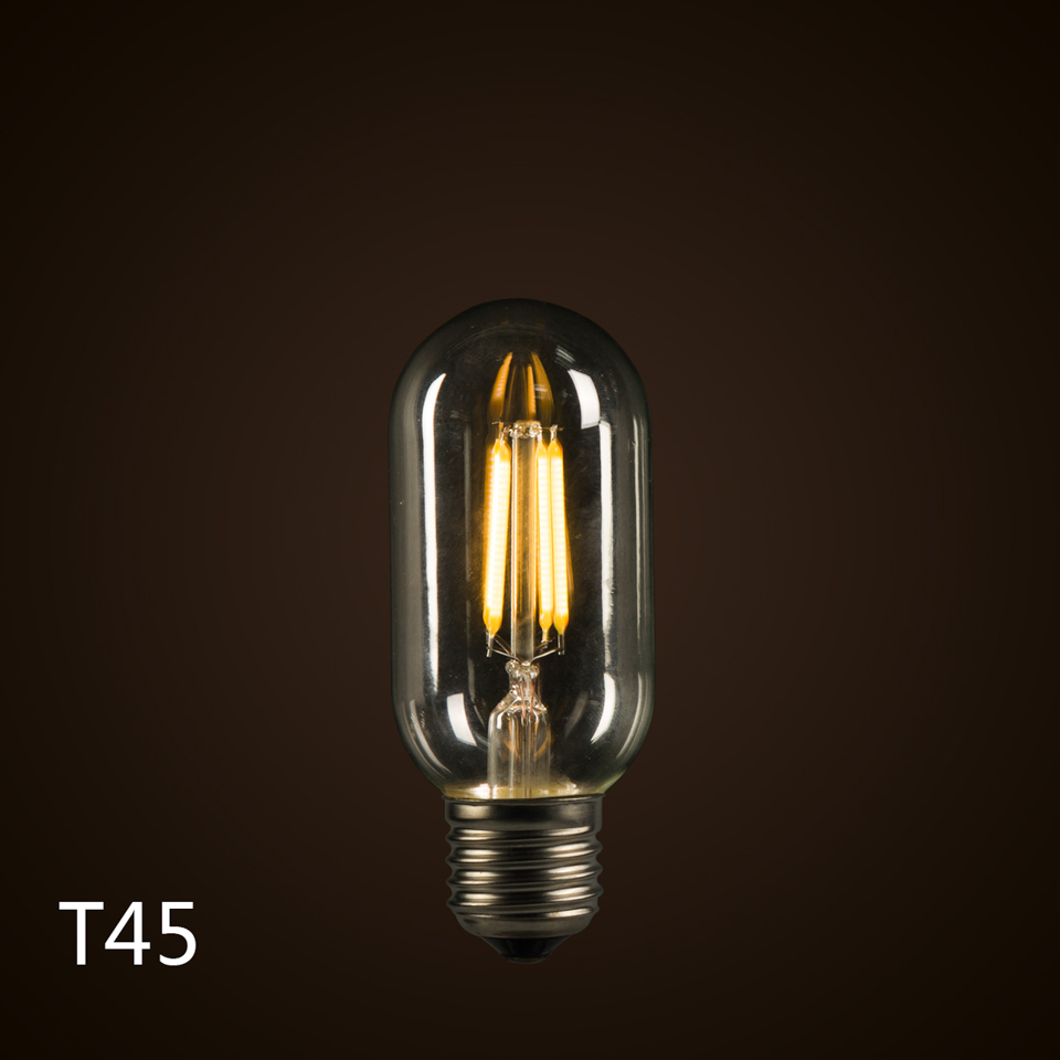 Creative LED Lamp E27 110V/220V 4W T45 Filament Edison Bulbs 360 Degree Warm White Energy Saving Light - Yuen's Lighting store