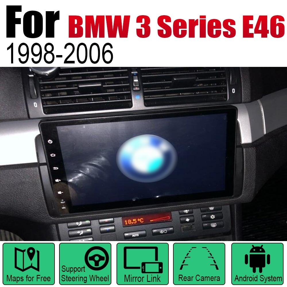 מערכת ניווט GPS אנדרואיד רכב DVD GPS Navi עבור BMW 3 Series E46 1998 ~ 2006 שחקן ניווט WiFi מערכת Bluetooth Mulitmedia stere אודיו (1)