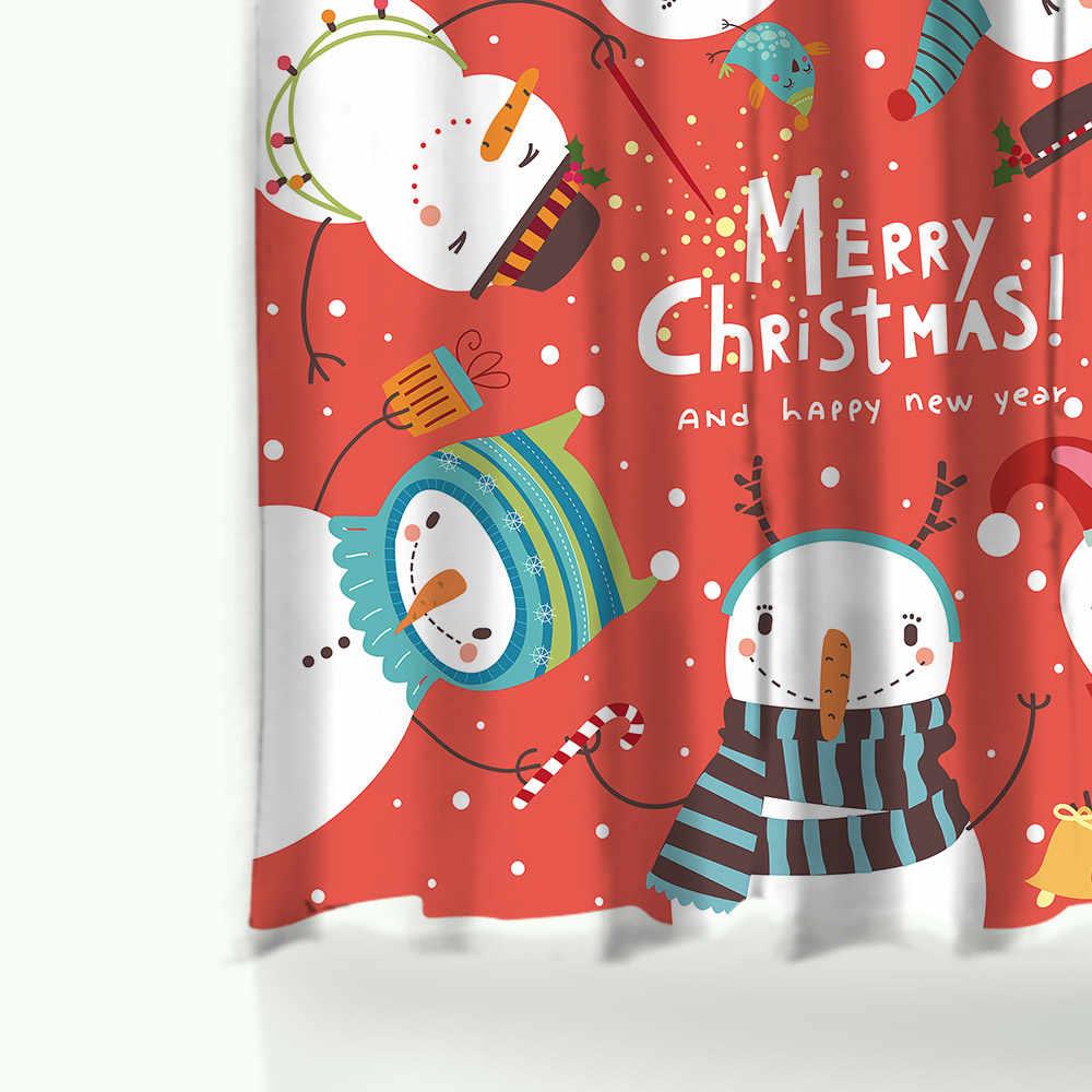 Miracille الزواج عيد الميلاد ستارة استحمام مطبوعة مجموعة للماء الستار منطقة السجاجيد السجاد للحمام ومرحاض المنزل ديكور