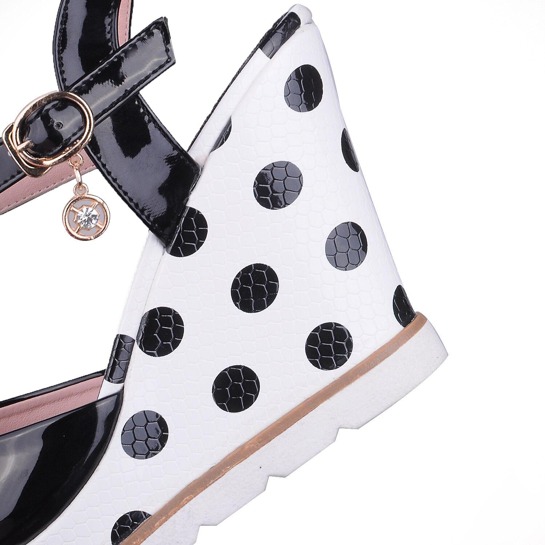 ESRFIYFE Plus Size 10 Women Sandals Ankelband Straw Platform Wedges - Damskor - Foto 5