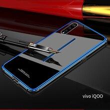 Aluminum Metal Frame Case For VIVO IQOO vivoiqoo Tempered Glass Back Cover for Vivo iqoo Bumper vivo