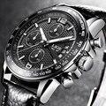 LIGE мужские s часы лучший бренд класса люкс повседневные модные часы мужские кожаные водонепроницаемые кварцевые наручные часы Relogio Masculino + к...
