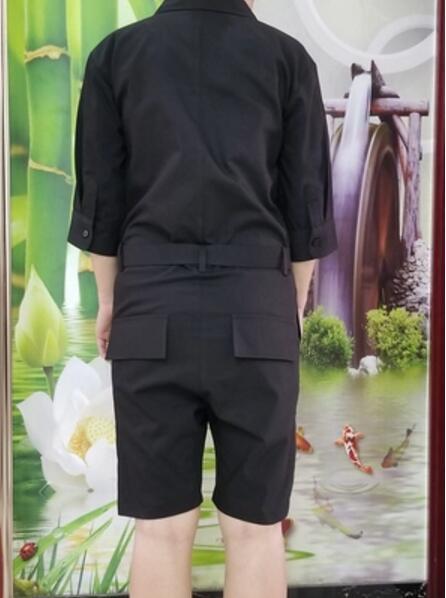 Traje Cantante black Herramientas Mono Corea Short Nueva De Corta Hombres S Sleeves Mujeres Gd Black Conjunto Ropa Los 5xl Casual 2018 Dj Sleeve Suelta Long Manga Las 6wS67RH